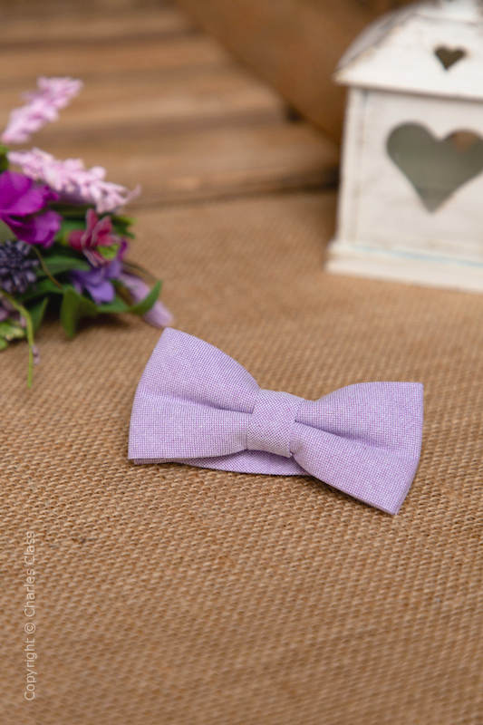 Boys Pastel Lilac Adjustable Cotton Dickie Bow