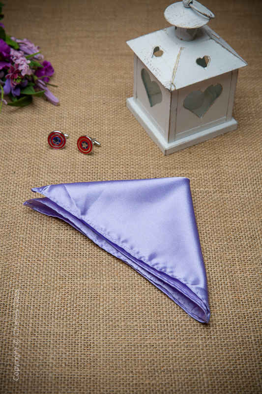 Boys Lilac Solid Satin Pocket Square