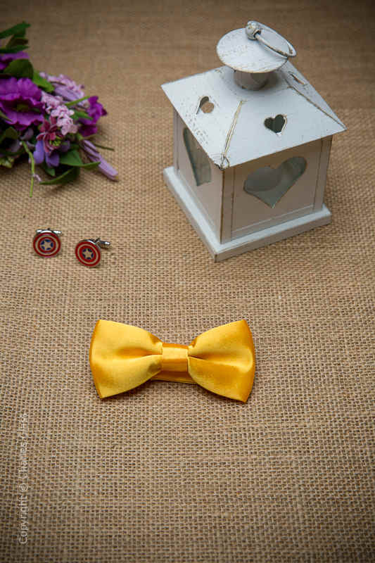Boys Marigold Adjustable Satin Dickie Bow