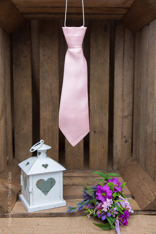 Boys Pale Pink Elasticated Satin Tie