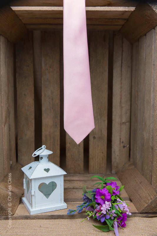 Boys Pale Pink Full Length Satin Tie