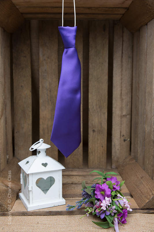 Boys Cadbury Purple Elasticated Satin Tie
