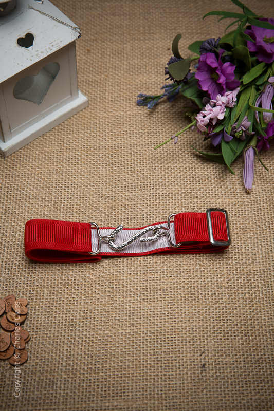 Boys Red Formal Adjustable & Elasticated Snake Belt