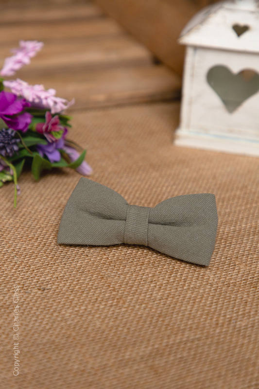 Boys Sage Green Adjustable Cotton Dickie Bow