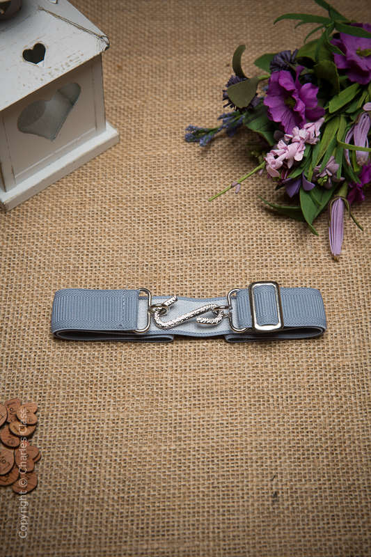 Boys Silver Formal Adjustable & Elasticated Snake Belt