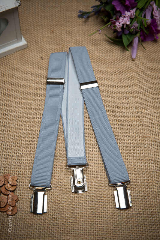 Boys Silver Formal Adjustable & Elasticated Braces