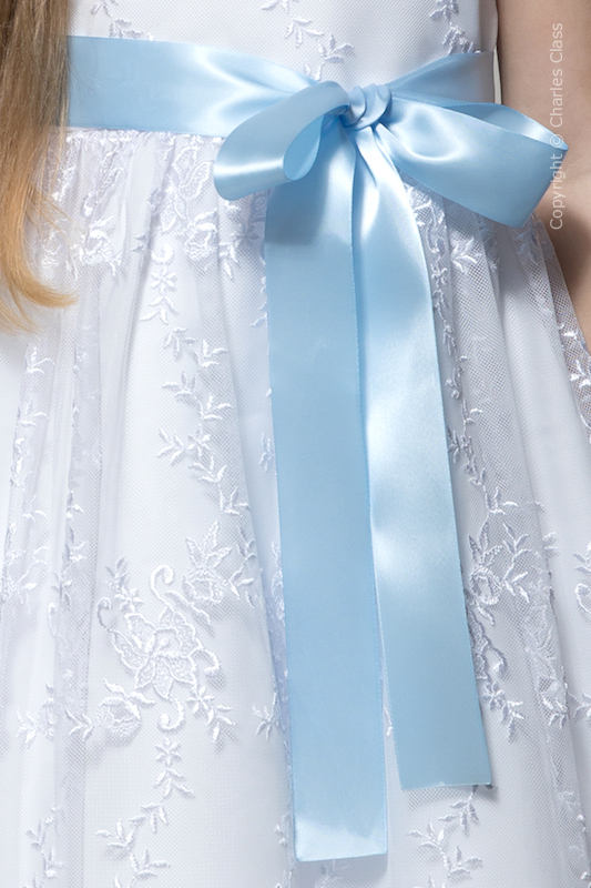 Baby Blue Premium Satin Flower Girl Sash