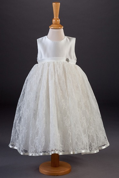 Millie Grace Diamanté Lace Flower Girl Dress - Aimee