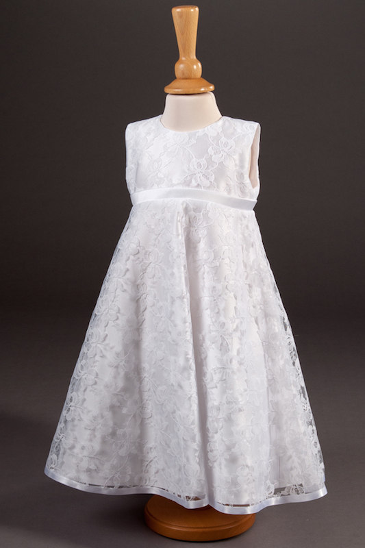 Millie Grace Ribbon Trim Lace Flower Girl Dress - Florence
