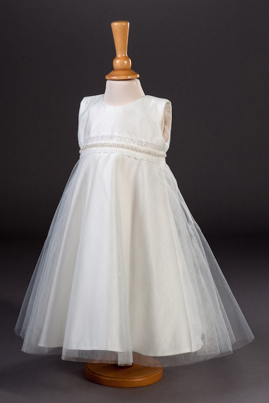 Millie Grace Pearl & Glitter Tulle Flower Girl Dress - Muriel