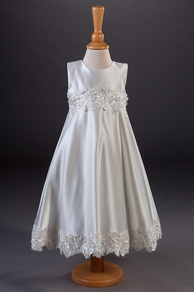 Millie Grace Guipure Lace Satin Flower Girl Dress - Tina